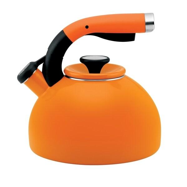 Circulon 2-quart Mandarin Orange Morning Bird Teakettle 11799379