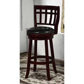 'Colorado' Cappuccino Bicast Leather Swivel Barstool
