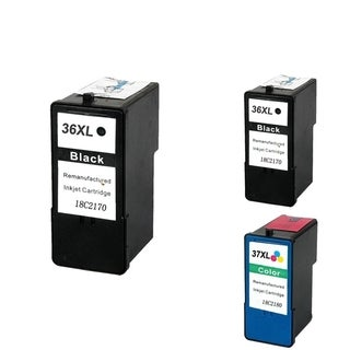 Lexmark 18C2170 3-ink Black/ Color Cartridge Set (Remanufactured)