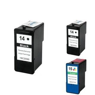 INSTEN Lexmark 18C2090 3-ink Black/ Color Cartridge Set (Remanufactured)