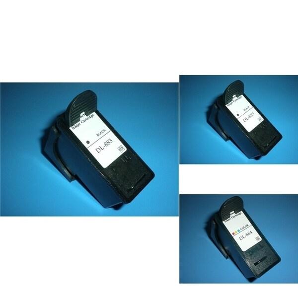 INSTEN Dell CH883 3-ink Black/ Color Cartridge Set (Remanufactured)