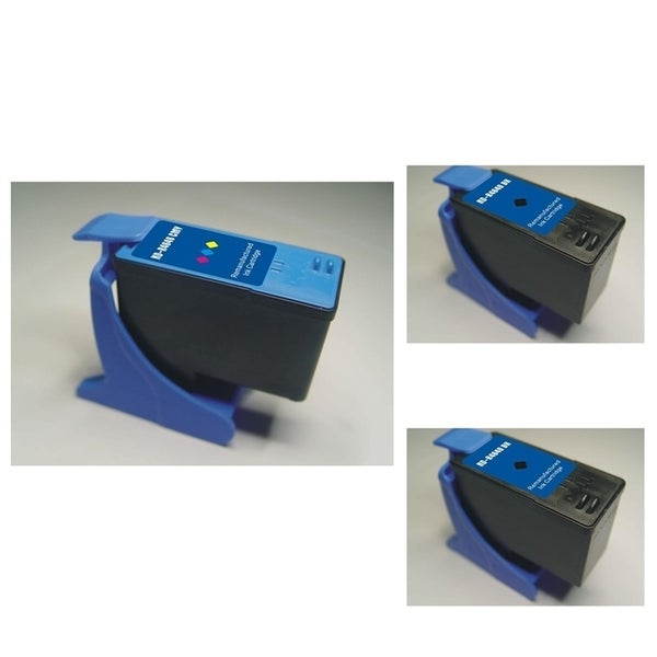 INSTEN Dell M4646 3-ink Black/ Color Cartridge Set (Remanufactured)