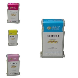 BasAcc 4-ink Cartridge Set Compatible with Canon BCI-1401C W7250C