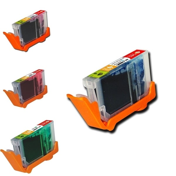 INSTEN 4-ink Cartridge Set for Canon CLI-8 with Chips