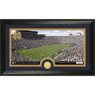 University of Notre Dame Stadium Bronze Coin Panoramic Photo Mint