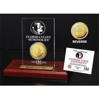 Florida State University Gold Coin Etched Acrylic