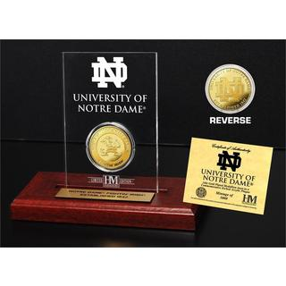 University of Notre Dame Gold Coin Etched Acrylic