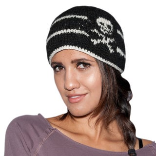 Hand-knit Happy Skull Woolen Winter Beanie (Nepal)