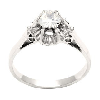 18k White Gold 2/5ct TDW Diamond Estate Engagement Ring (I-J, SI1-SI2)