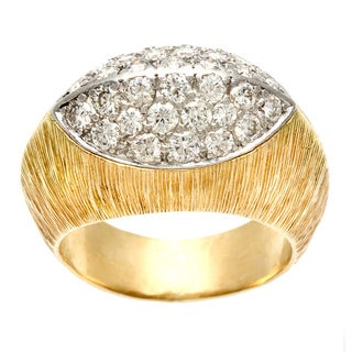 Ruser 18k Yellow Gold 4/5ct TDW Diamond Estate Ring (I-J, VS1-VS2)