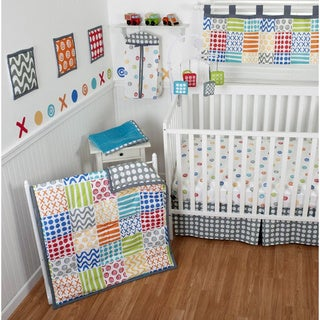 Sumersault Doddles Bright 10-piece Crib Bedding Set