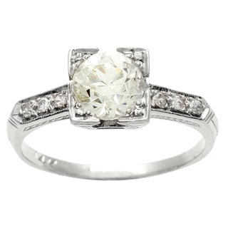 14k Gold 1ct TDW Diamond Antique Estate Engagement Ring (K-L, VS1-VS2)