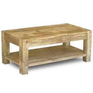Reclaimed Mango Wood Coffee Table and Shelf (India)
