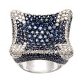 18k White Gold Sapphire and 1 1/2ct TDW Diamond Estate Ring (I-J, SI1-SI2)