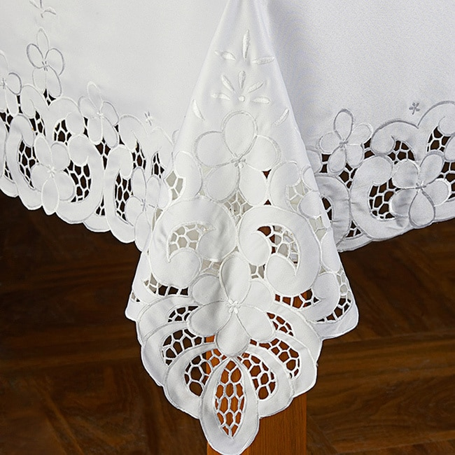 OTHER White 90-inch Round Tablecloth at Sears.com