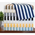 Cabana Striped 600 Thread Count Cotton Blend Sheet Set