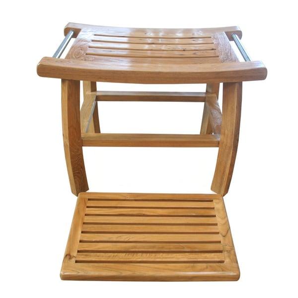 teak wood shower bench bed bath and beyond 2