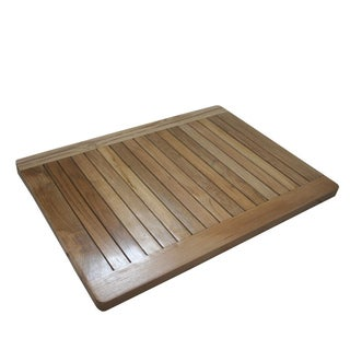 Solid Teak Slat Shower Spa Mat