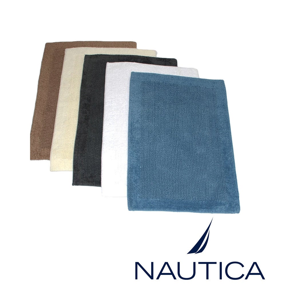 Nautica Reversible Cotton 2-piece Bath Rug Set