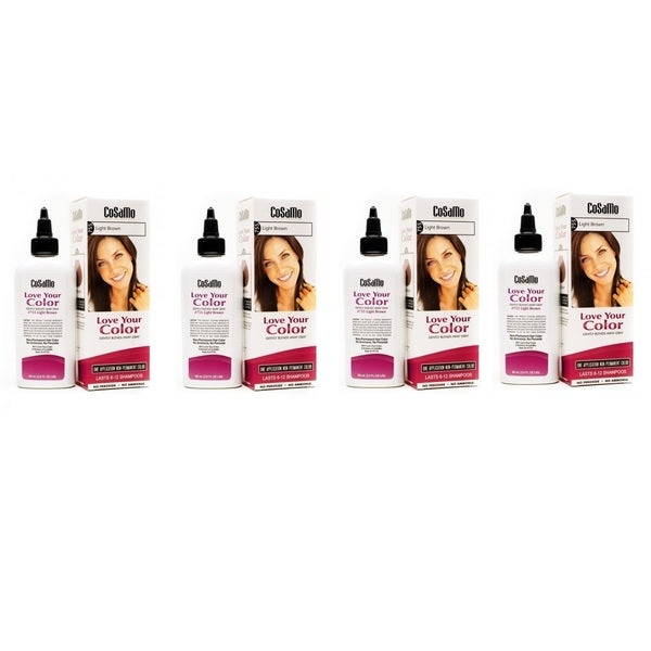 Cosamo Love Your Color Light Brown 755 Hair Color (Pack of 4)