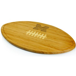 Picnic Time Kickoff University of Michigan Wolverines Engraved Natural Wood X- Large Cutting Board
