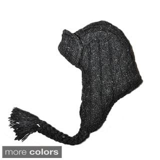 Hand-knit Woolen Trapper Hat (Nepal)