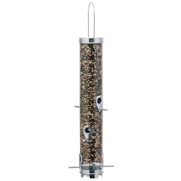 Tubular 6-port Sunflower Seed Bird Feeder