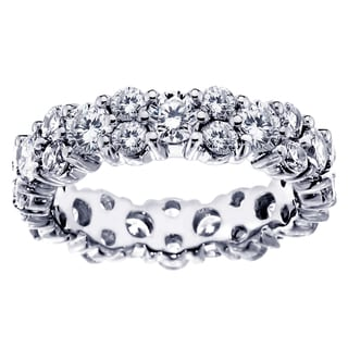 Platinum or White Gold 4 1/4ct Diamond Eternity Anniversary Ring (F-G, SI1-SI2)