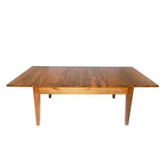 Reclaimed teak modern farmhouse extension dining table for Top rated dining tables