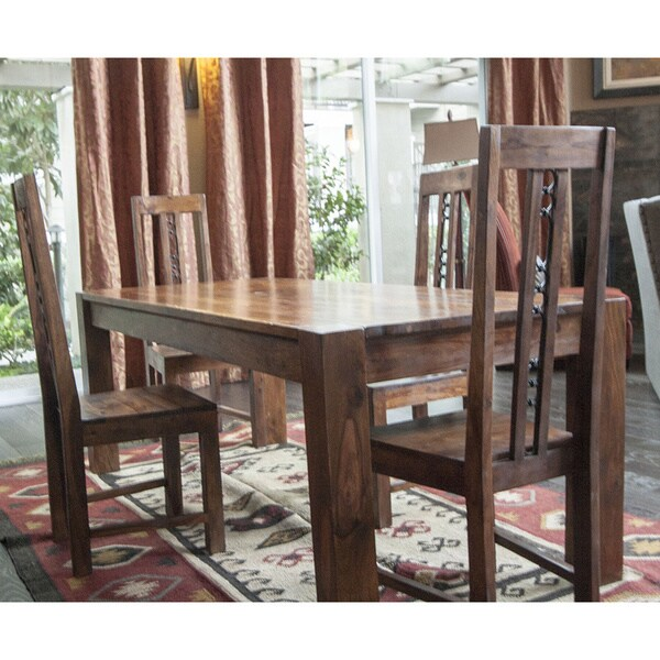 Timbergirl solid seesham 78 inch timbergirl dining table for Top rated dining tables