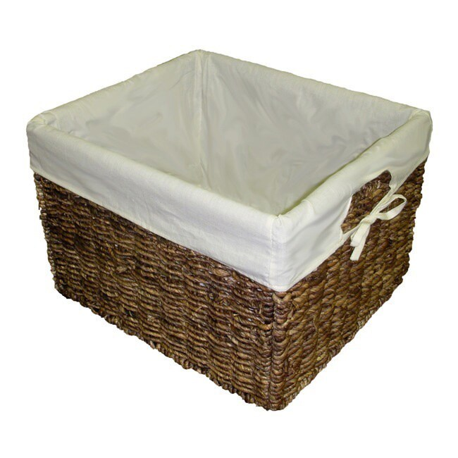 Handcrafted Large Woven Maize Rectangular Storage Baskets (Set of 2) at Sears.com