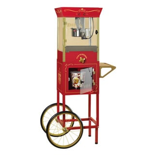 Nostalgia Electrics CCP810 Vintage Collection Popcorn Dispensing Cart