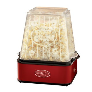 Nostalgia Electrics TPM100REDBLK Theater Stirring Popcorn Popper