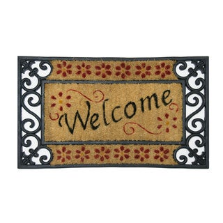 "Rubber-Cal 'Welcome Home' Entrance Mat (18""x30"")"