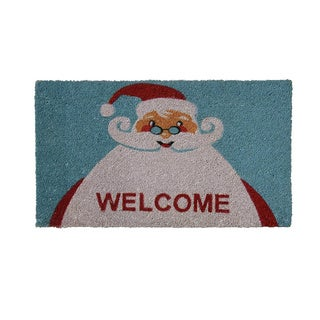 "Rubber-Cal 'Santa Claus is Back' Coir Doormat (18""x30"")"