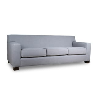 Cassandra Premium Linen Down Wrapped 90-inch Sofa