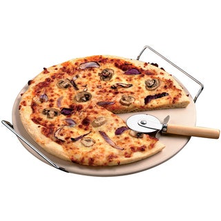 KitchenWorthy 13-inch Pizza Stone Set