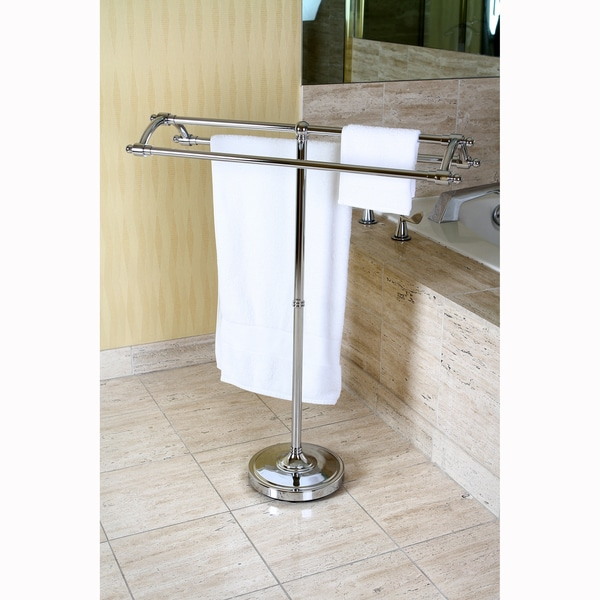 Chrome Pedestal Round Plate Towel Rack