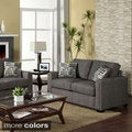 Wolver Nailhead-trim Sofa / Love Seat Set