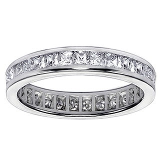 Platinum or 14k/ 18k Gold 2ct TDW Diamond Eternity Wedding Band (F-G, SI1-SI2)
