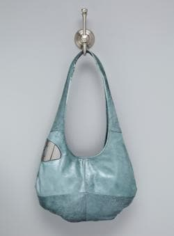 Halston Heritage Spearmint Medium Leather Hobo