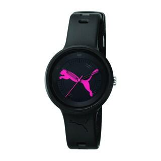 Puma Women's Black/ Pink Dial Analog Watch