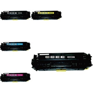 BasAcc 5-ink Cartridge Set Compatible with HP CC530A