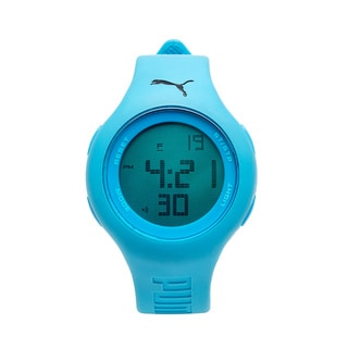 Puma Unisex PU910801001 Loop Neon Blue Digital Watch
