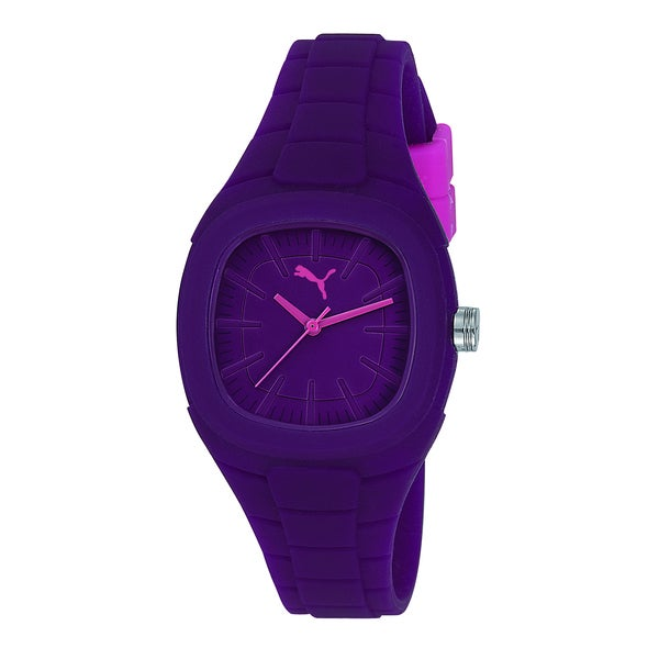 Puma Women's Purple Silicone Watch