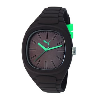 Puma Men's PU102881009 Bubble Gum L Dark Brown Silicone Watch