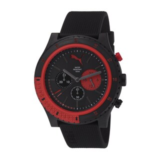Puma Men's pu103221002 Motion Red/ Black Chronograph Watch