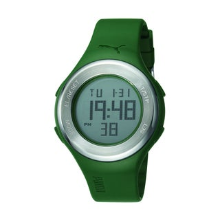Puma Men's Green Strap Digital Watch