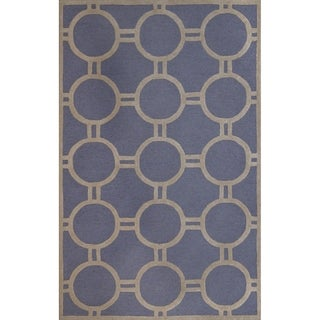 Safavieh Handmade Moroccan Cambridge Canvas-backed Light Blue/ Ivory Wool Rug (9' x 12')