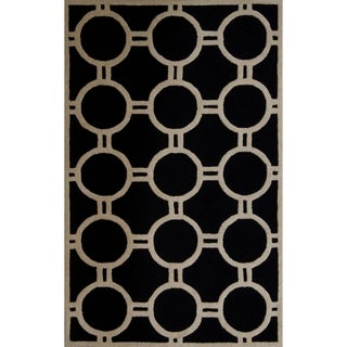 Safavieh Handmade Moroccan Cambridge Black/ Ivory Soft Wool Rug (9' x 12')